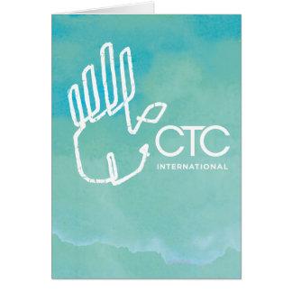 CTC International -  Blue Greeting Card