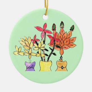 CTC International - Flowers Round Ceramic Decoration