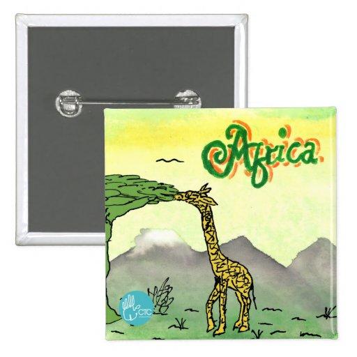 CTC International - Giraffe 15 Cm Square Badge