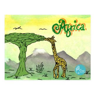 CTC International - Giraffe Postcard