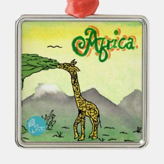 CTC International - Giraffe Silver-Colored Square Decoration
