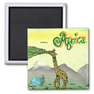 CTC International - Giraffe Square Magnet