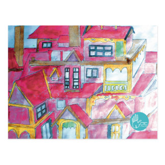 CTC International - Houses Postcard