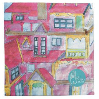 CTC International - Houses Printed Napkin