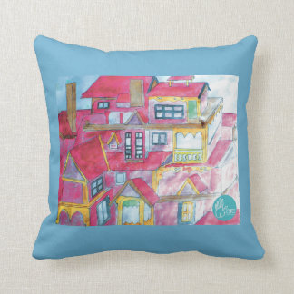CTC International - Houses Throw Pillow
