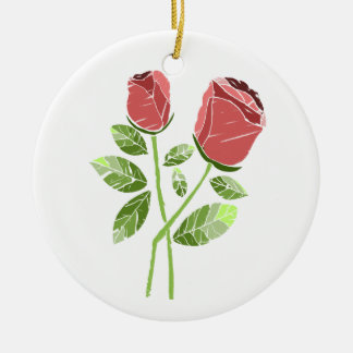 CTC International -  Roses Round Ceramic Decoration