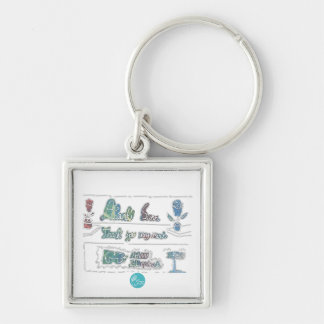 CTC International - Thank You Silver-Colored Square Key Ring