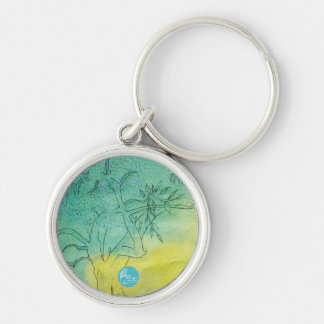 CTC International - Tree Silver-Colored Round Key Ring