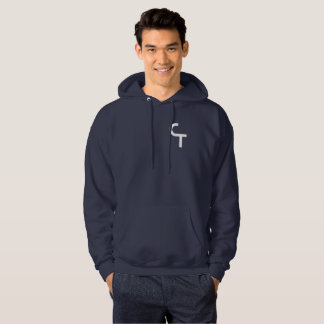 CTflips Classic White Logo Navy Blue Hoodie