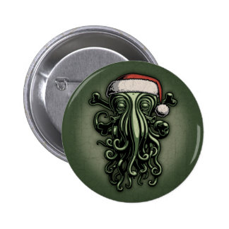 Cthulhu Claus 6 Cm Round Badge