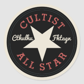 Cthulhu Cultist All Star Classic Round Sticker