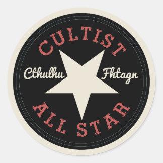 Cthulhu Cultist All Star Round Sticker