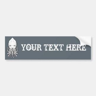 Cthulhu Customisable Bumper Car Sticker