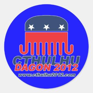 Cthulhu Dagon 2012 Classic Round Sticker