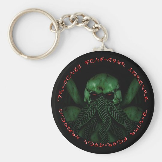 Cthulhu Fhtagn Basic Round Button Key Ring
