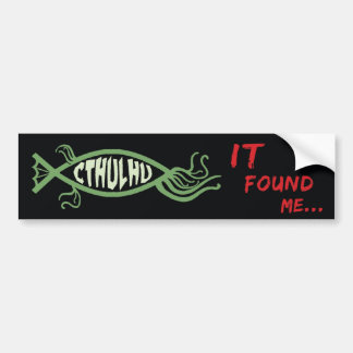 Cthulhu Fish Bumper Sticker - Lovecraft