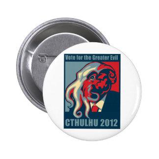 Cthulhu for President- 2012 6 Cm Round Badge