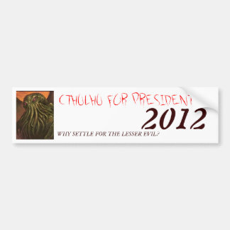 CTHULHU FOR PRESIDENT 2012 BUMPER STICKER