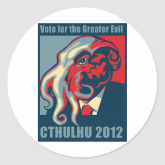 Cthulhu for President- 2012 Classic Round Sticker