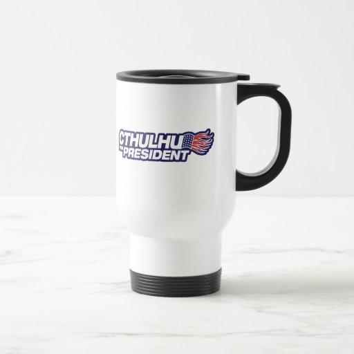 cthulhu for president coffee mug
