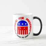 Cthulhu  For President 11 Oz Magic Heat Color-Changing Coffee Mug