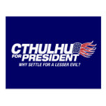 cthulhu for president - why settle for a lesser ev post card