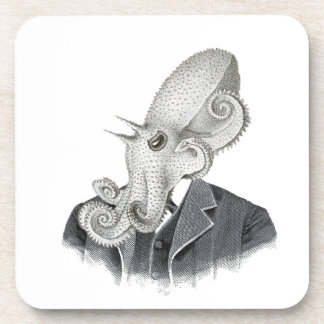 Cthulhu Gentleman Vintage Illustration Coaster Set