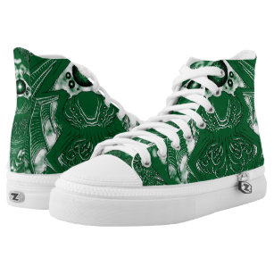 Cthulhu H.P. Lovecraft Mythos Green High Tops