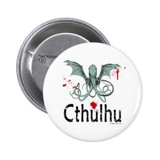 Cthulhu horror vector art 6 cm round badge