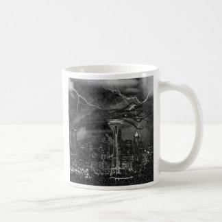 Cthulhu in the Seattle Rain Basic White Mug