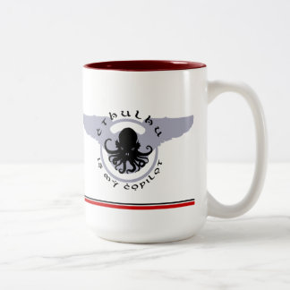Cthulhu is my Copilot RED STRIPE Mug