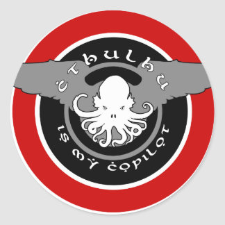 Cthulhu is my Copilot Sticker (red)