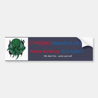 Cthulhu/Krampus 2016 Bumper Sticker