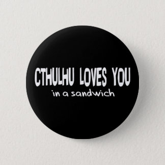 Cthulhu Loves You 6 Cm Round Badge