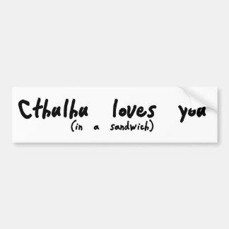 Cthulhu Loves You Bumper Sticker
