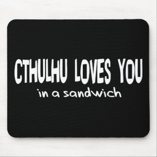 Cthulhu Loves You Mouse Pad