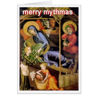 Cthulhu Nativity Greeting Card
