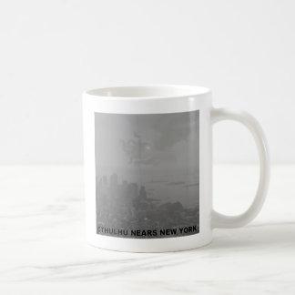 Cthulhu Nears New York Basic White Mug