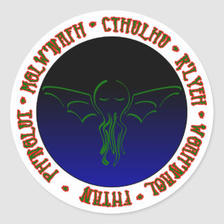 Cthulhu Sleeps - Round Sticker