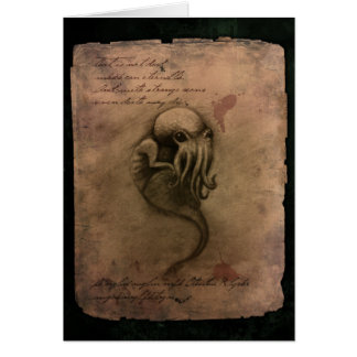Cthulhu Spawn Greeting Card