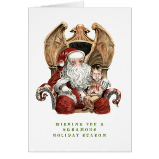 Cthulhu Squamous Holiday Card