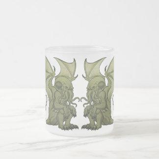 Cthulhu Twins Frosted Glass Mug