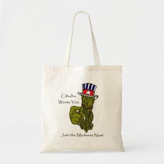 Cthulhu Wants You! Tote Bag