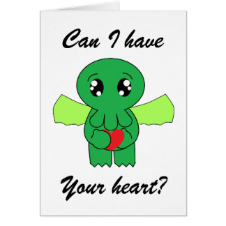 Cthulhu wants your heart note card