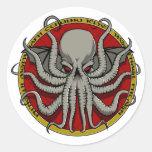 Cthulu Crest Classic Round Sticker