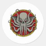 Cthulu Crest Round Stickers
