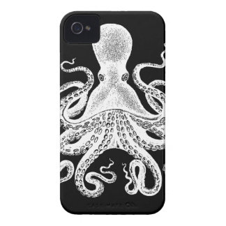 Cthulu Kraken Octopus - Victorian Image on Black iPhone 4 Cover
