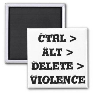 Ctrl > Alt > Delete > Violence - Anti Bully Refrigerator Magnets
