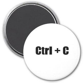 CTRL + C 7.5 CM ROUND MAGNET