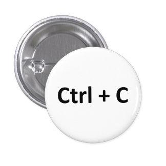 Ctrl C Ctrl V Copy Paste Twins 3 Cm Round Badge